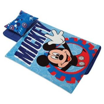 Disney® Mickey Mouse Deluxe Memory Foam Nap Mat, Pillow and Blanket Set in Blue