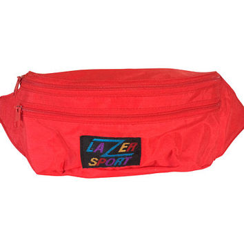 Men Fanny Pack Women Bum Bag Red Fanny Pack Men Bum Bag 80s Fanny Pack 90s Fanny Pack 90s Bum Bag 90s Accessories 80s Accessories Hipster