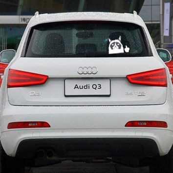 10.5*13.5cm Funny Grumpy Cat Car Stickers and Decals Auto Accessories Black & White Motorcycle Decorative Stickers Car-styling