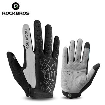 ROCKBROS Windproof Cycling Bicycle Gloves Touch Screen Riding MTB Bike Glove Thermal Warm Motorcycle Winter Autumn Bike Clothing