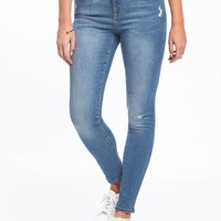 Mid-Rise Distressed Rockstar Jeans for Women | Old Navy