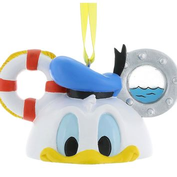 disney parks donald duck resin christmas ear hat ornament new with tags