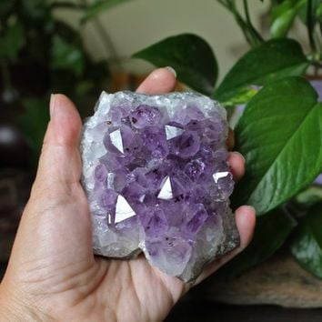 Large Amethyst Cluster, 381g Purple Raw Crystal, Metaphysical, Rock Shop, Pagan Shopping, Witchcraft Supplies, Chakra, Reiki Healing Stone