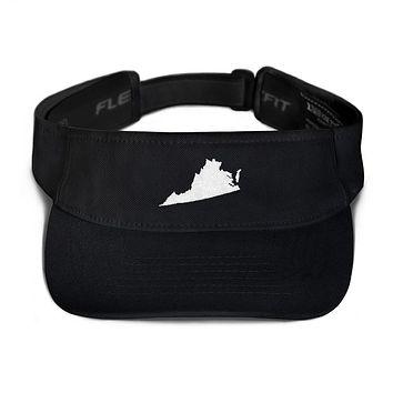 Virginia Embroidered State Shape Visor