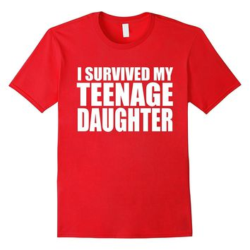 i survived my teenage daughter daddy cute baby girl shirt