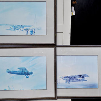 Aviation Prints  Set of 3 Vintage Airplanes by TheVelvetBranch