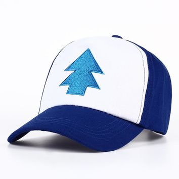 VORON New Cotton tree embroidery Gravity Falls U.S Cartoon Mabel Dipper Pines Cosplay Cool Baseball Caps Adjustable Sport Hat