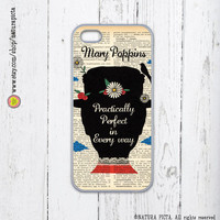 Mary Poppins Practically Perfect quote iPhone case 4/4S - iPhone case 5/5S -Galaxy S4 case,plastic case -Design by Natura Picta-NP006