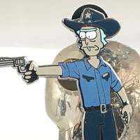 Rick Grimes pin,Rick Sanchez Grimes,Carl Grimes,Walking Dead,Rick and Morty,Mash up,pin,hat pin,lapel pin, in stock