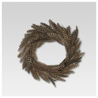 Feather Wreath - Brown - Threshold™