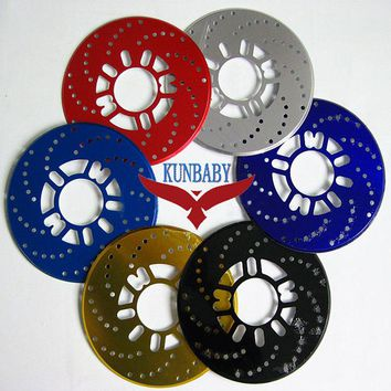 KUNBABY 2PCS Universal Aluminum Disc Brake Rotor Racing Covers Drum Free Shipping Light Blue/Dark Blue/Gold/Black/Red/Silver