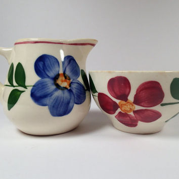 Blue Ridge Pottery Childs Sugar and Creamer set