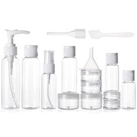 Alink 16 Piece Travel Bottle Set - Lightweight Hygiene Essentials and Cosmetic Container Set for Travelling - 16 Piece Compact Kit with Waterproof Transparent Pouch