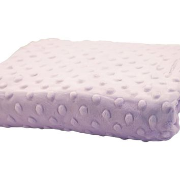 Rumble Tuff Kit Minky Dot Contour Compact Lavender Changing Pad Cover
