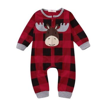 Moose Plaid Christmas Pajamas
