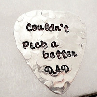Hand Stamped - Personalized Guitar Pick
