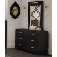 Walmart: South Shore SoHo Dresser and Mirror, Black