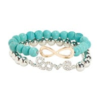 Infinite Love Bracelet 2-Pack -