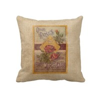 Burlap Vintage Roses Witch Hazel Advertisement from Zazzle.com