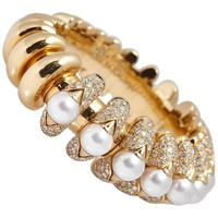 Bulgari Pearl Diamond Gold Bracelet