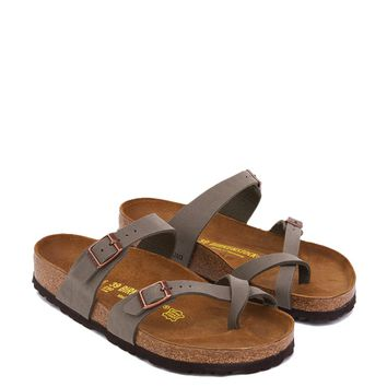 Birkenstock Leather Sandals in Stone