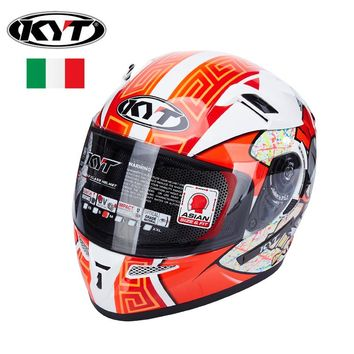 KYT full face Motorcycle Helmets Motogp Racing Helmet Dual Lens Visors Men Motorbike moto casco DOT approved