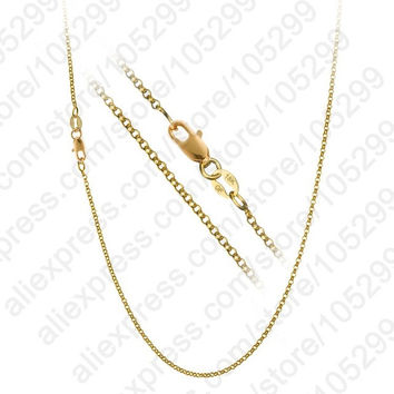 "1PC Nice Accessories Findings 16""-30"" Necklace Chains O Genuine 18k Gold Filled Link Rolo Chain+Lobeter Clasp Pendant Cheap"