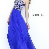 Sherri Hill Floor Length Strapless Prom Dress