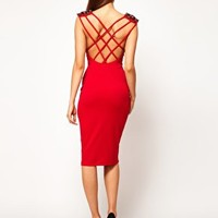ASOS Midi Dress with Jewelled Shoulder at asos.com