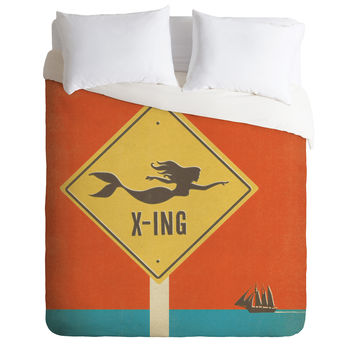 Anderson Design Group Mermaid X Ing Duvet Cover