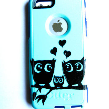 otterbox iphone 5c case, Iphone 5c case, Glitter case, Iphone cover, custom otterbox iphone 5c, gift, Owl iphone 5c case