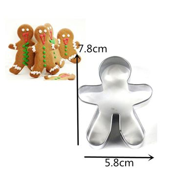 SDR Christmas Cookie Cutter Tools Aluminium Alloy Gingerbread Men Shaped Holiday Biscuit Mold Kitchen cake Decorating Tools