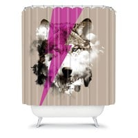 Deny Designs Robert Farkas Wolf Rocks Fabric Shower Curtain (Beige/Khaki)