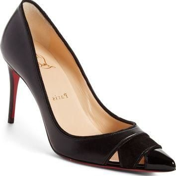 Christian Louboutin Biblio Cutout Pointy Toe Pump (Women) | Nordstrom