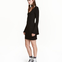 H&M Dress with Trumpet Sleeves $24.99