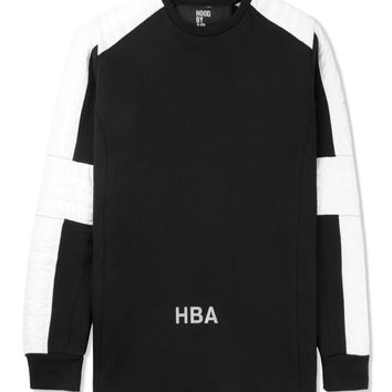 Hood By Air. Black Padded Stripe Sweater | HYPEBEAST Store.