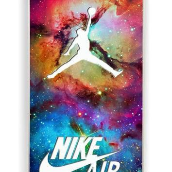 iPhone 4 Case - Rubber (TPU) Cover with Galaxy Nike Jordan Rubber Case Design