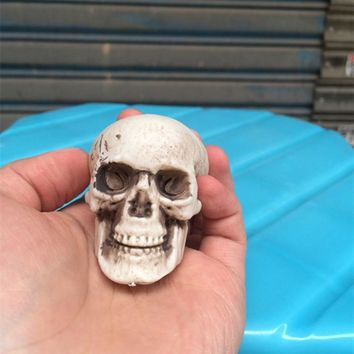 6cm Human Head Resin Replica Halloween Home Decoration High Quality Decorative Craft Skull