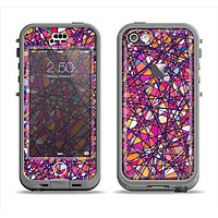The Shards of Neon Color Apple iPhone 5c LifeProof Nuud Case Skin Set