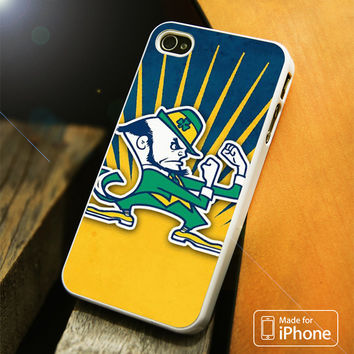 Notre Dame Fighting Irish Blue Yellow iPhone 4(S),5(S),5C,SE,6(S),6(S) Plus Case