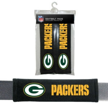 Green Bay Packers Velour Seat Belt Pads