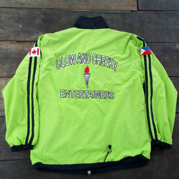Glow and Cheeky entertainers windbreaker sport casual Canada vintage