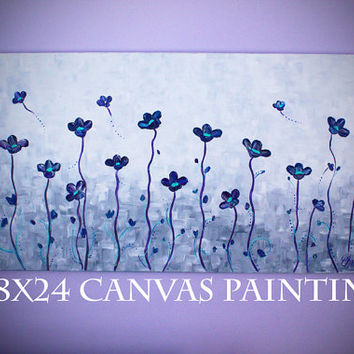 Abstract Painting, Large Painting, Impasto flower painting, Palette knife painting