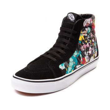 Disney and Vans Sk8 Hi Alice In Wonderland Skate Shoe