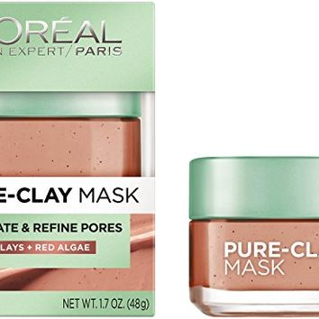 L'Oreal Paris Skin Care Exfoliate and Refine Pores Pure Clay Mask, 1.7 Ounc