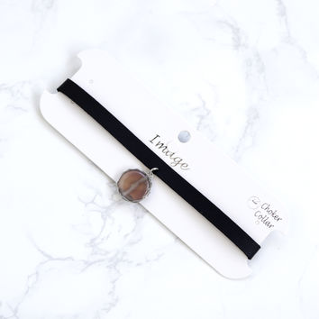 Castille Choker With Stone, Taupe