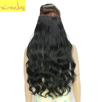 Clip in Hair Extensions 70cm Length 120g Synthetic Hair Clips Extension