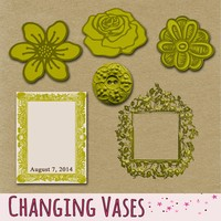 Changing Vases: Daily Freebie - August 7 Free Mini Scrapbook Elements