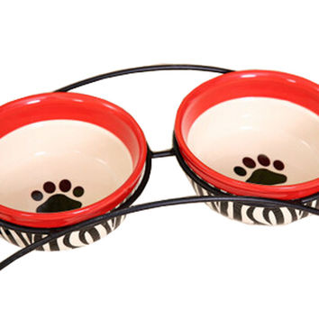 Pet Feeding Supplies Ceramic Water Bowls/Raised Bowls/Cat or Dog Food Bowl(#14)
