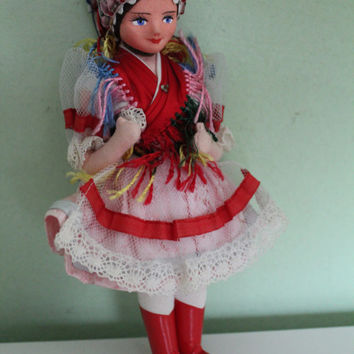 National Costume Doll, Ukraine - Ukrainian Traditional Costume Doll, Folklore Doll, Ethnic Doll, Collectible, Home Decor